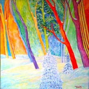 """Storehouse of Snow"" Acrylic on Canvas $245"