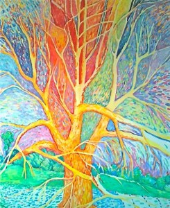 """Transformation Tree"" Acrylic on Canvas $560"