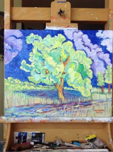 """Tree of the River of Life"" Acrylic on Canvas $175"