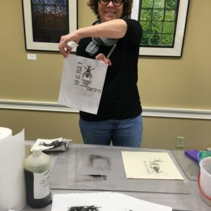 JHillis 2019 printmaking demo with student(1)